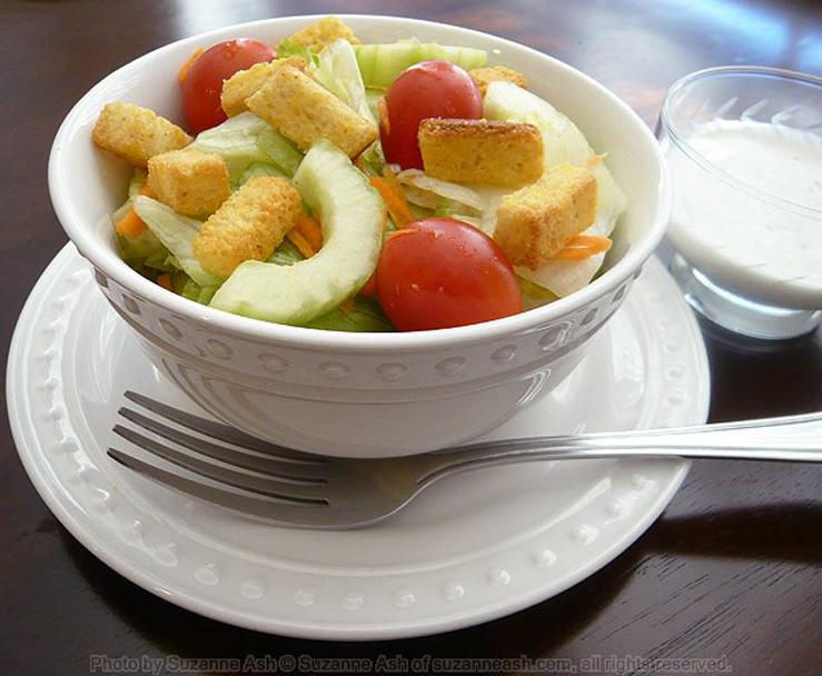 Diner Salad with Blue Cheese Dressing